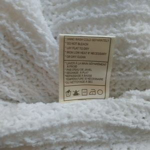 BB Dakota Sweaters - BB Dakota Large Weave White Sweater